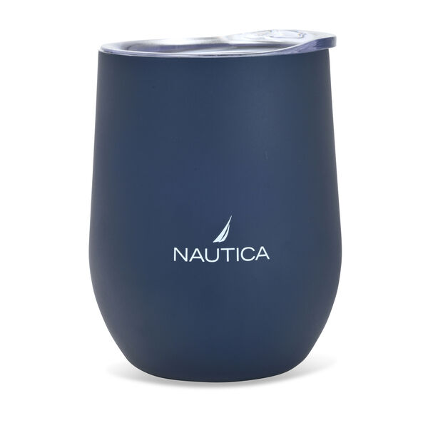 J-CLASS LOGO DOUBLE-WALLED STAINLESS STEEL TUMBLER - Navy