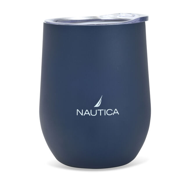 J-CLASS LOGO DOUBLE-WALLED STAINLESS STEEL TUMBLER,Navy,large