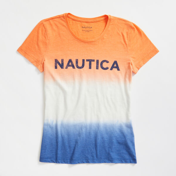 DIP DYE LOGO KNIT T-SHIRT - Blue Depths