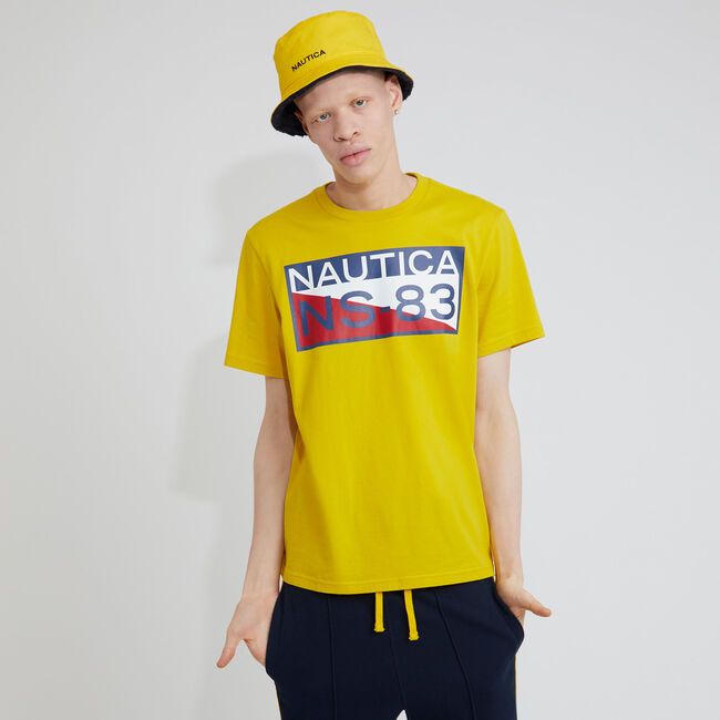 The Lil Yachty Collection by Nautica Big & Tall NS-83 Graphic T-Shirt,Shoreline Yellow,large