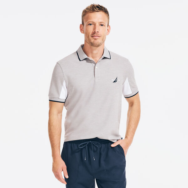 NAVTECH CLASSIC FIT COLORBLOCK-SLEEVE POLO - Grey Heather