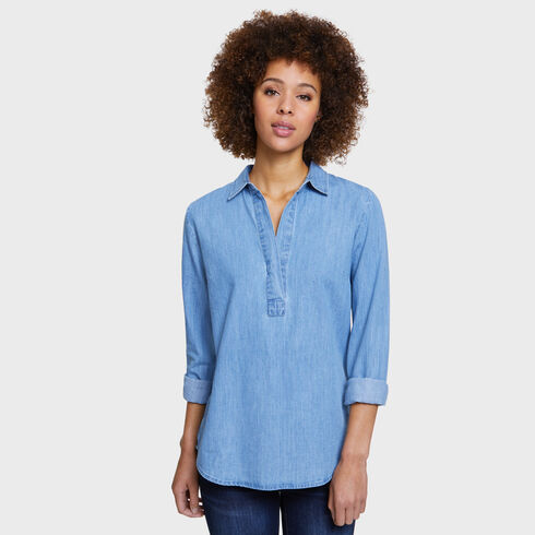 DENIM POPOVER - Federal Blue