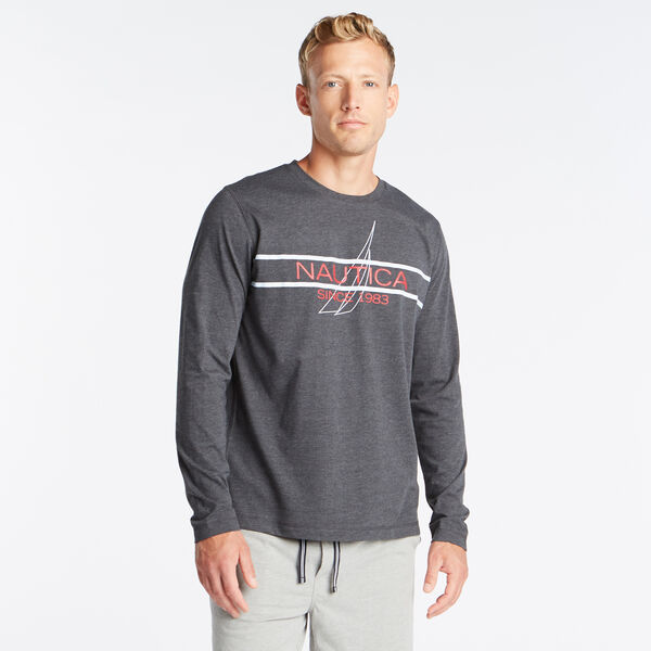 CLASSIC FIT LONG SLEEVE SINCE 1983 GRAPHIC SLEEP SHIRT - Charcoal Heather
