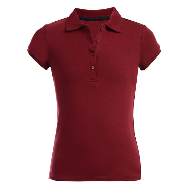 Girls' Short Sleeve Polo (7-16) - Classic Red