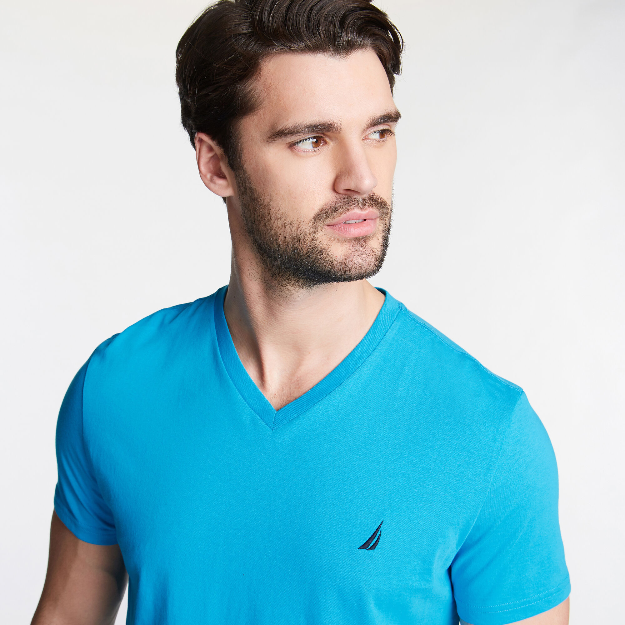 Nautica-Mens-V-Neck-Short-Sleeve-T-Shirt thumbnail 43