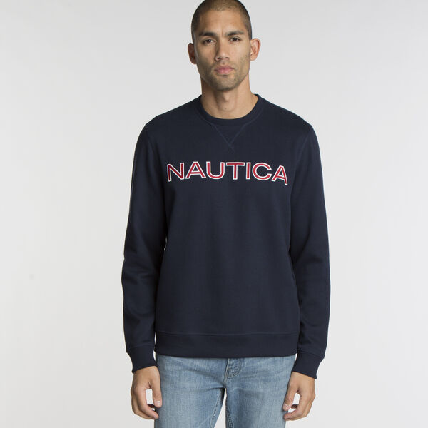 Long Sleeve Fleece Crewneck Sweatshirt - Navy