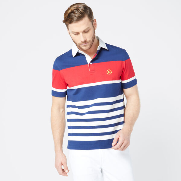 NAUTICA JEANS CO. STRIPED POLO - J Navy