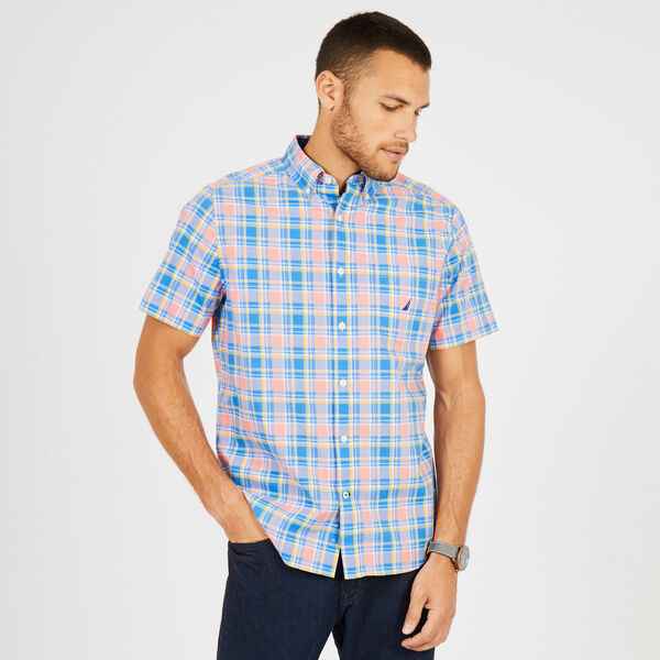 Breakwater Plaid Classic Fit Short Sleeve Shirt - Coral Sands