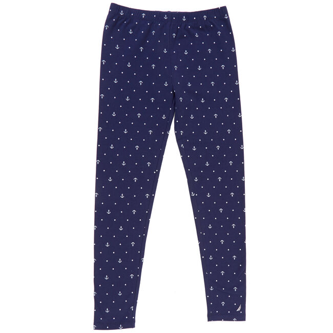 Girls' Leggings in Critter Print (8-20),Navy,large
