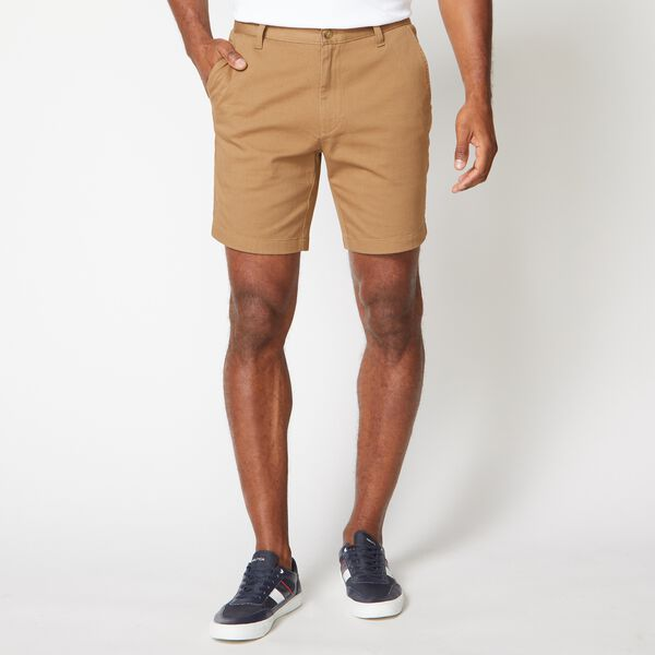 "8.5"" CLASSIC FIT STRETCH-TWILL SHORTS - Oyster Brown"