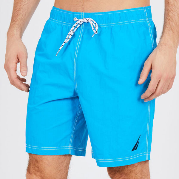 Big & Tall Full-Elastic Solid Swim Trunks - Hawaiian Ocean