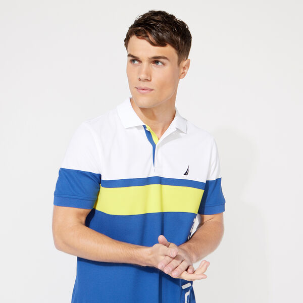 CLASSIC FIT COLORBLOCK POLO - Windsurf Blue