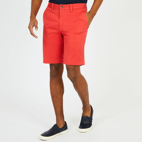 "Solid Stretch Slim Fit Shorts - 9.5"" Inseam - Sailor Red"