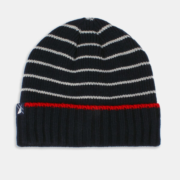 KIDS' STRIPED CUFF HAT - Navy