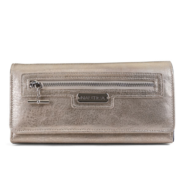 ABOVE BOARD BOXED CONTINENTAL WALLET - Black Heather