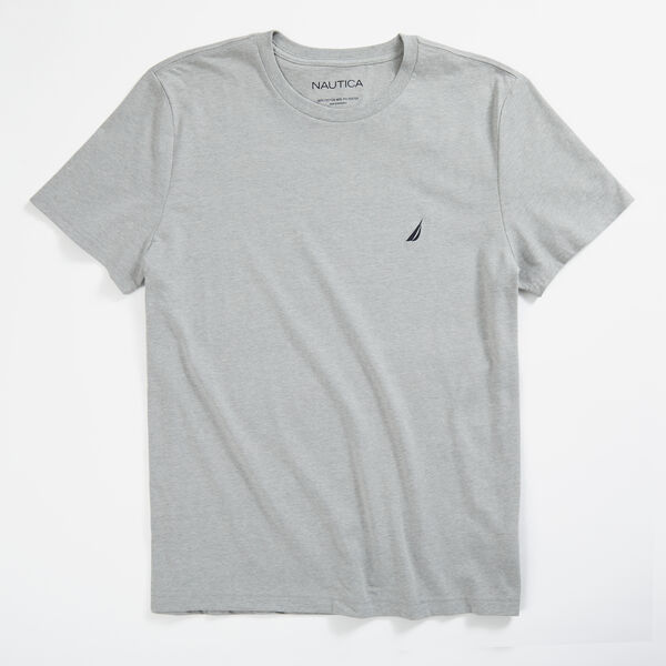 HEATHERED CREWNECK T-SHIRT - Grey Heather