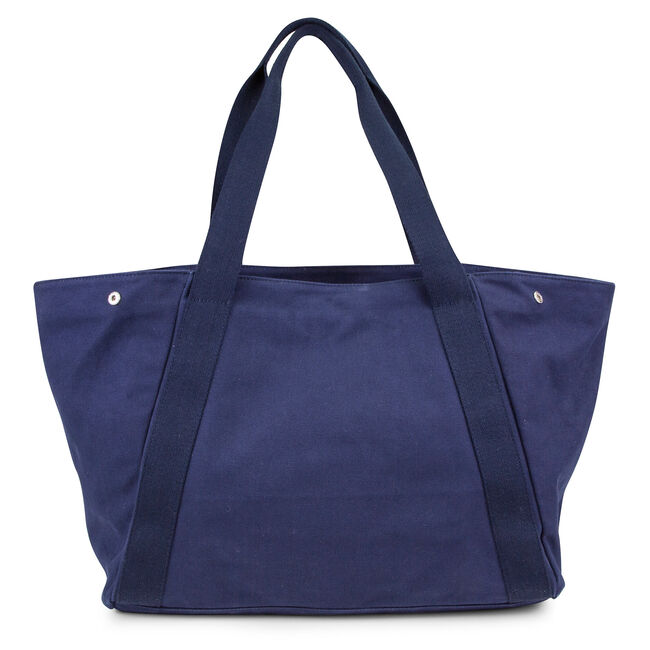 For Shoal Large Canvas Tote,Navy,large