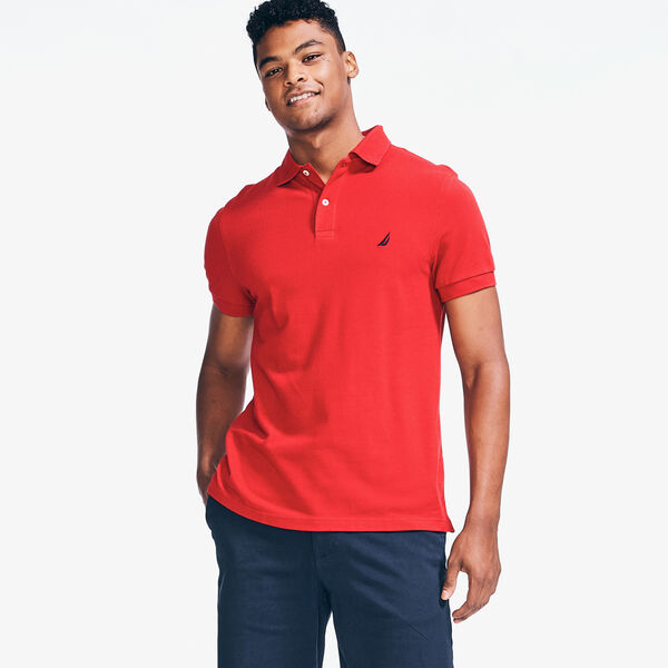 SLIM FIT DECK POLO - Nautica Red