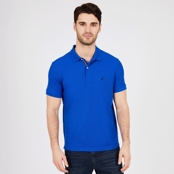 Classic Fit Performance Mesh Polo - Bright Cobalt