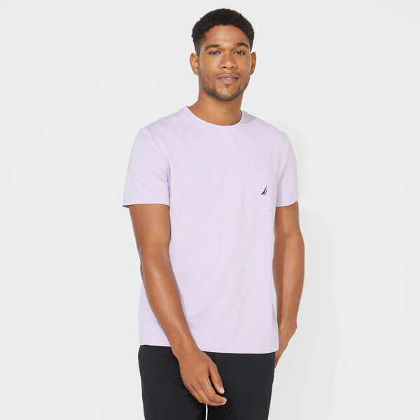 CREWNECK POCKET T-SHIRT - Lavendula