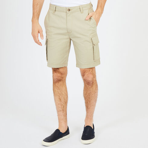 "Navigator Stretch Cargo Shorts - 10"" Inseam - Beach Sand"