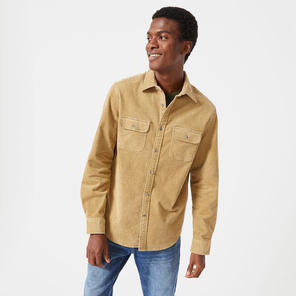 CLASSIC FIT CORDUROY OVERSHIRT - Dark Brown