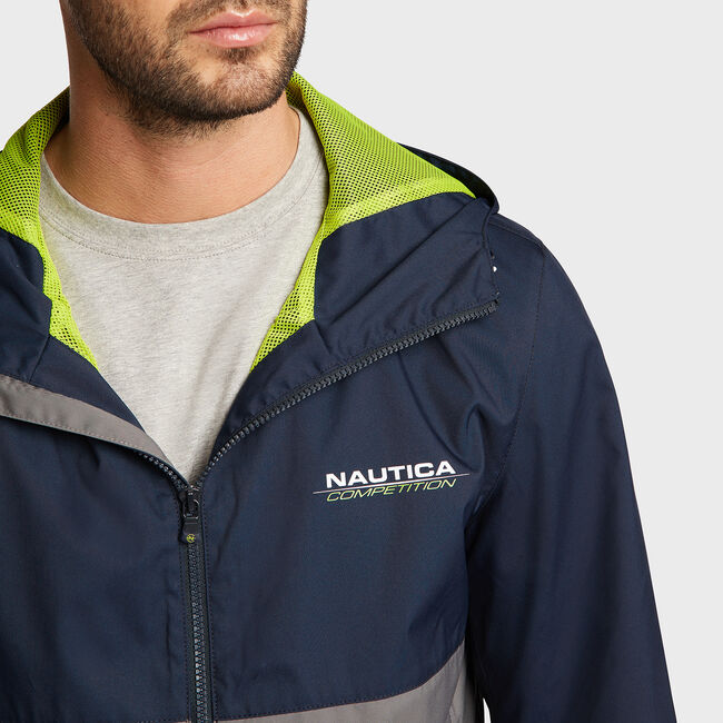 Competition Hooded Training Jacket,Navy,large