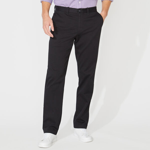 CLASSIC FIT FLAT FRONT PANTS - True Black