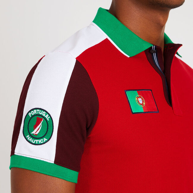 Slim Fit Portugal Performance Polo,Nautica Red,large
