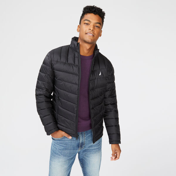 QUILTED J-CLASS RIPSTOP JACKET - True Black