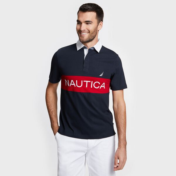 Big & Tall Logo Shipman Polo - Navy