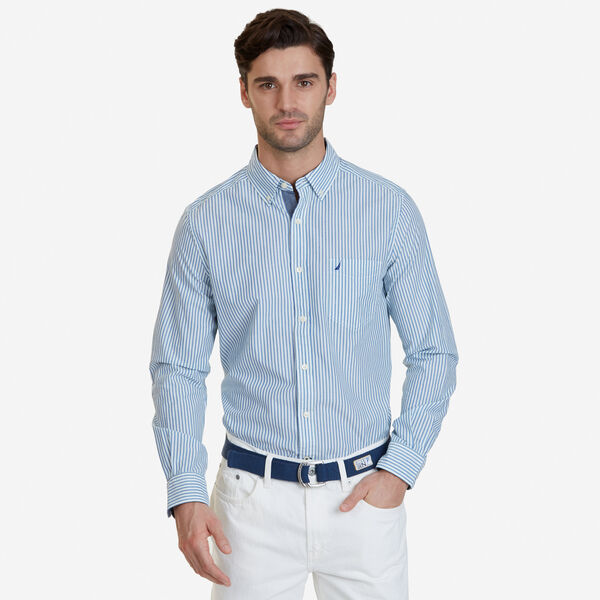 Classic Fit Striped Shirt - Bright White