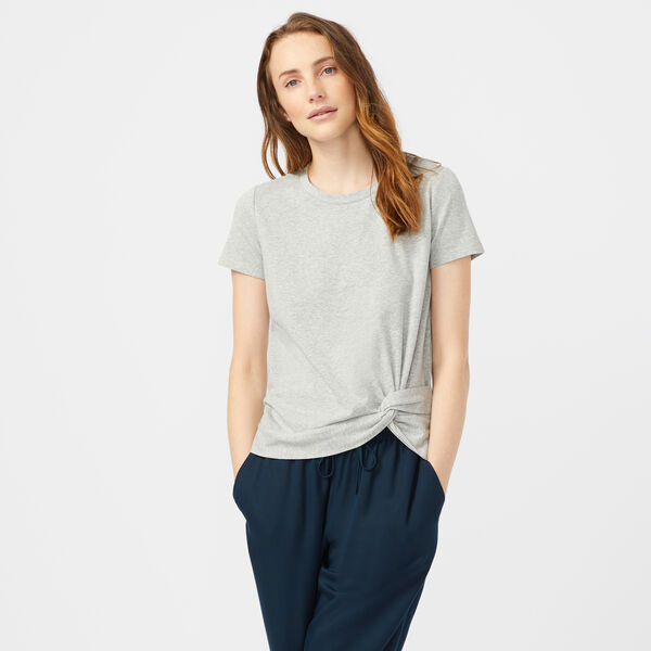 SIDE KNOT JERSEY TOP - Fog