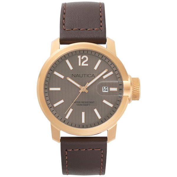 Sydney Leather Date Watch - Multi