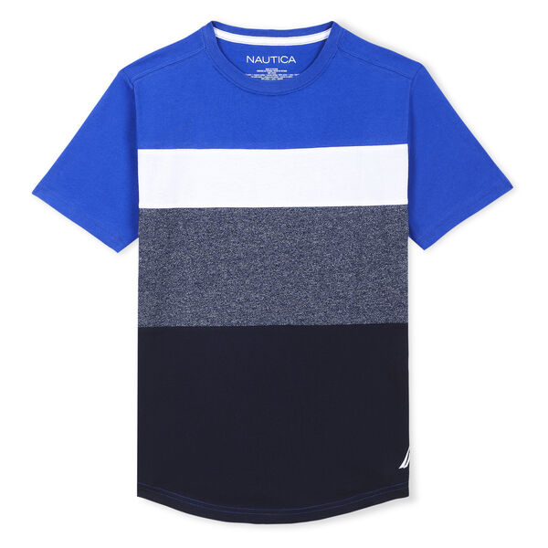 BOYS' JAYCEN JERSEY T-SHIRT IN COLORBLOCK (8-20) - Imperial Blue