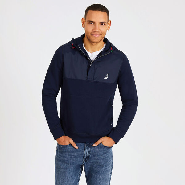 COLORBLOCK TECH-FLEECE HOODIE - Navy