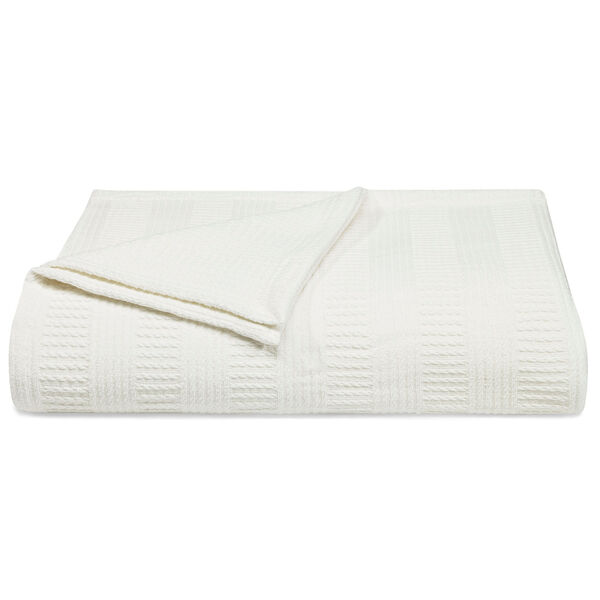 Rope Stripe Blanket - Deck White - Bright White