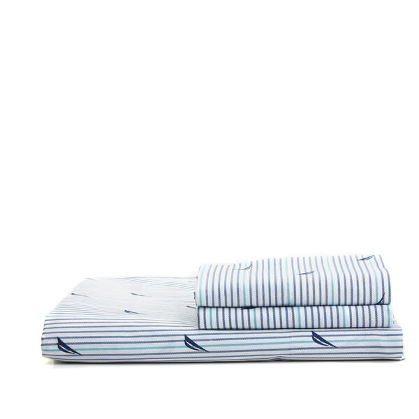 Audley Navy Sheet Set - Pure Dark Pacific Wash