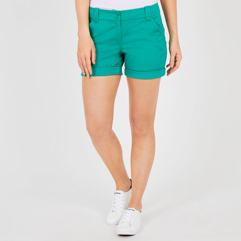 "Flat Front Stretch Twill Shorts - 7"" Inseam - Vibe Green"