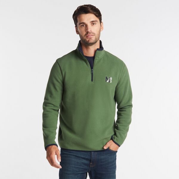 NAUTEX N83 QUARTER-ZIP FLEECE - Pineforest
