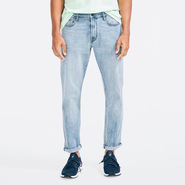 STRAIGHT FIT STRETCH DENIM - Ensign Blue