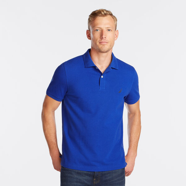 SLIM FIT MESH POLO - Bright Cobalt