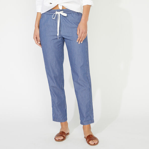 BOAT STRIPE PANT - Angel Blue