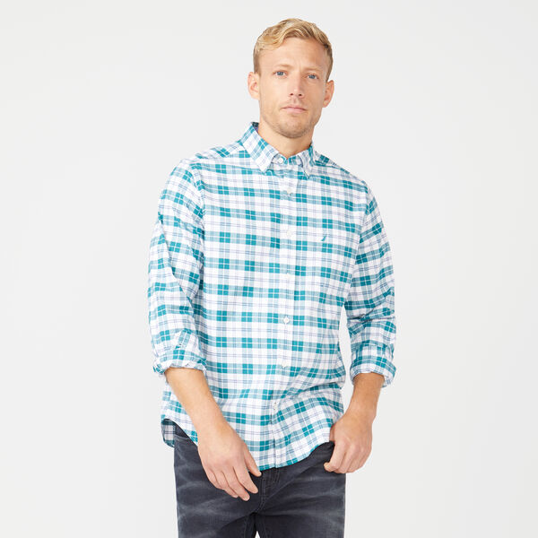 CLASSIC FIT LONG SLEEVE MULTICOLOR PLAID SHIRT - Shaded Spruce