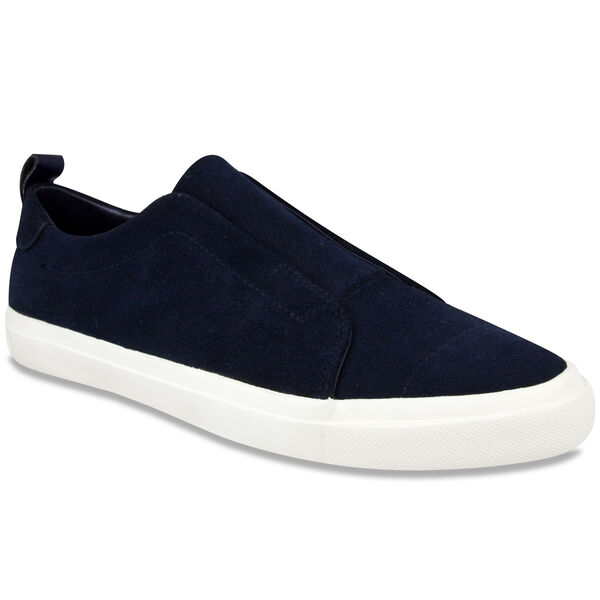 Daly Slip-On Sneakers - Blue Suede - Nite Sea Heather
