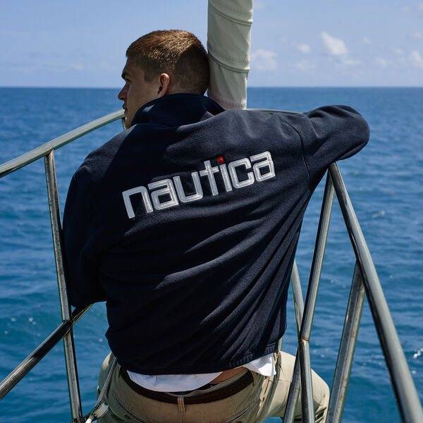 LIMITED EDITION SPINNAKER QUARTER ZIP FLEECE - Navy