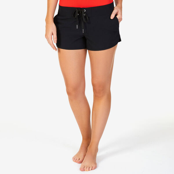 Drawstring Board Shorts - True Black
