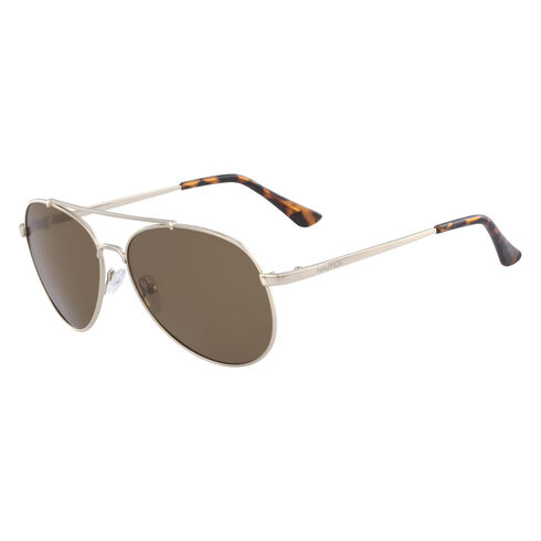 Aviator Sunglasses with Gold Frame - Rugby Yellow