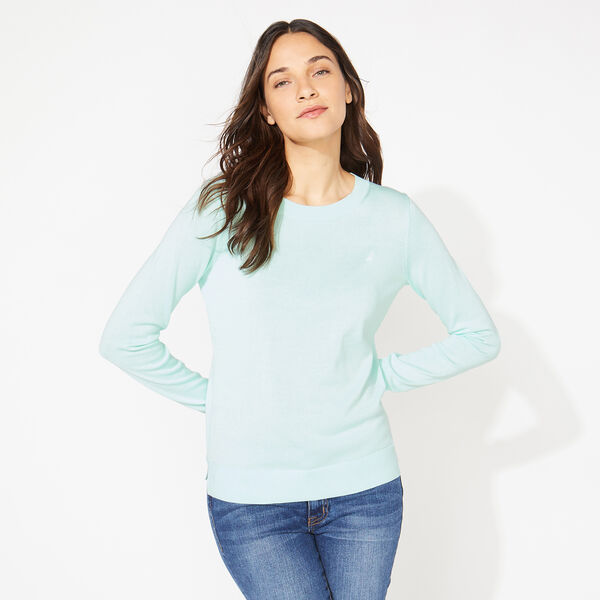 COTTON CREWNECK SWEATER - Aquabreeze
