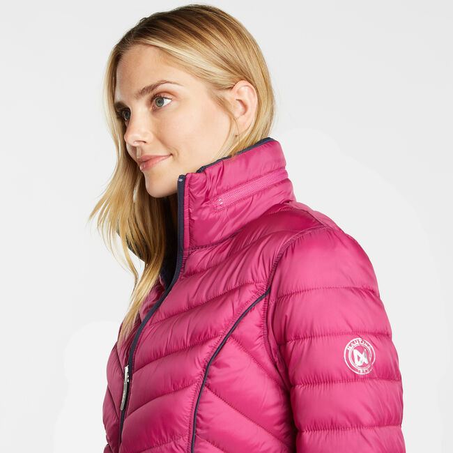 Reversible Packable Puffer Jacket,Magenta,large